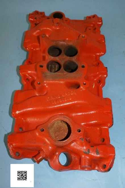 1964-1965 Corvette C2 Inlet Manifold, 3844457, Front 12/63 250hp, Used Poor